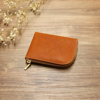 L-type coin purse - brown