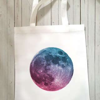 GRADIENT MOON Canvas Tote Bag