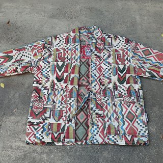 AMIN'S SHINY WORLD handmade KIMONO geometric color blouse coat