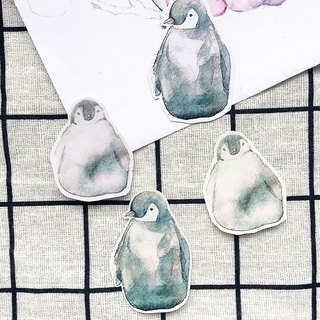 Hand painted sticker penguin handy watercolor calliyan stickers lovely hipster