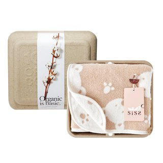 [SISSO organic cotton] Japanese organic cotton cloak cotton blanket dual-use gift box (bear)