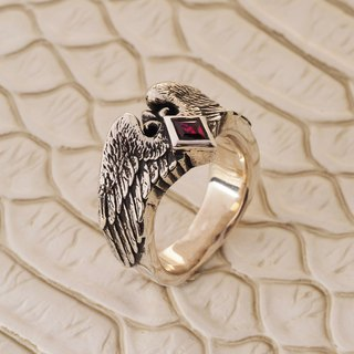 Archangel Knight Ruby Ring 925 Sterling Silver