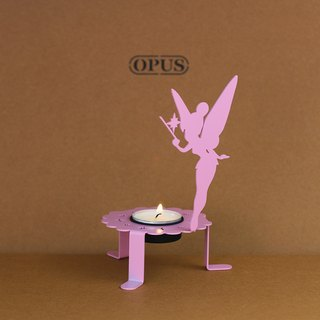 【OPUS Metalart】Light of Spirit - Flower Fairy Candle Holder (Pink) / Home Office Shops / Wedding & Desktop Ornaments Arrangements / Small Candlestick / Candle Holder / Birthday Gifts / Photo Shoo Props Properties KL-ca06 (P)