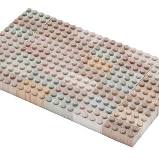 【Made in Japan】 Wood building blocks - 48 pieces | 100% natural, no chemical processing No paint