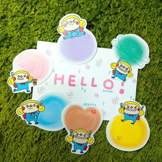 Bubble tag/sticker pack