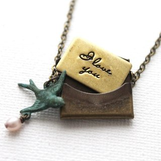 Who happens to come from afar love letter necklace