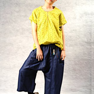 The beauty of summer * Personality / fresh / wild / casual tops (yellow / purple 2 color)