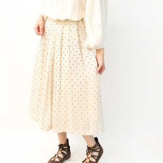 Retro Summer Japanese Simple Sweet Rice White Dotted Vintage Dress Vintage Skirt