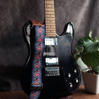 Navy Retro Guitar Strap