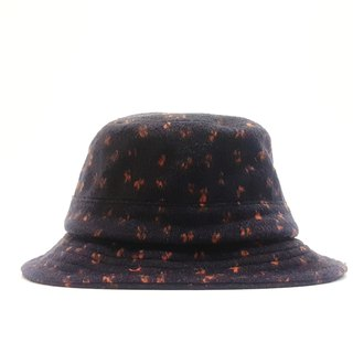 British disc gentleman hat - blue bottom small orange point #毛料#Exclusive #限量#秋冬#礼物# Keep warm