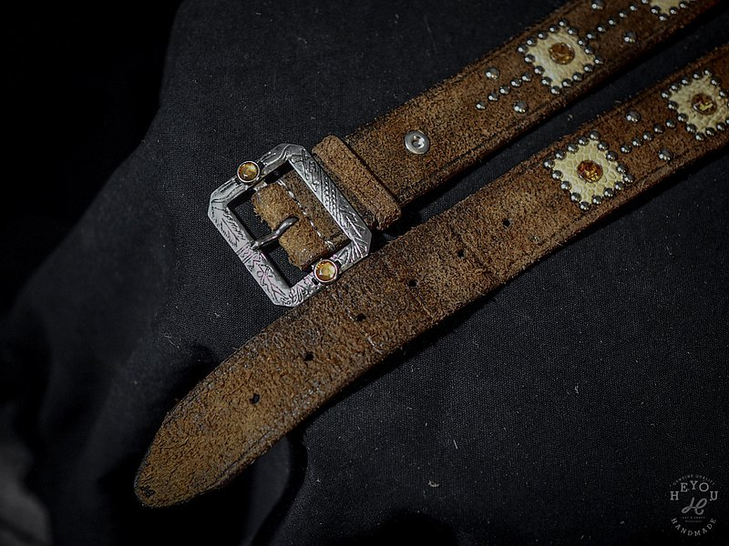 Western Special Leather Belt Western style studded leather belt