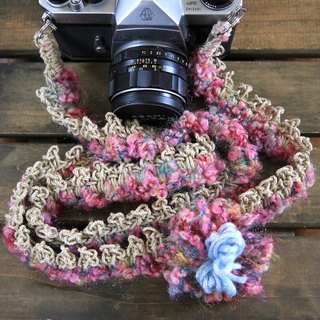 Loop yarn hemp string hemp camera strap / double ring