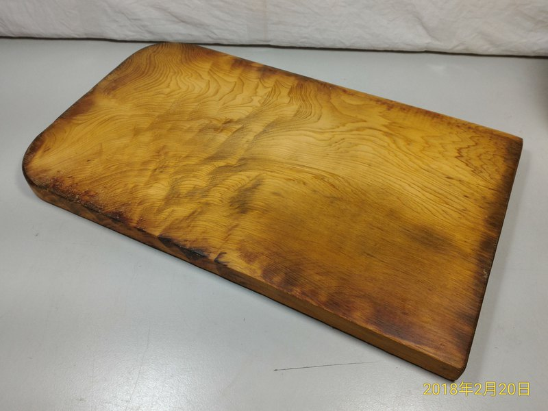 ~ Old material new work ~ Taiwan yellow wood cutting board pedestal (G)