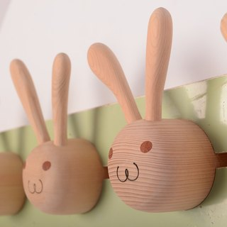 [Even] handmade limited edition works of rabbits _ wooden hook shape