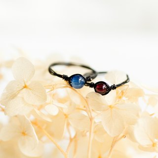 Exquisite couples ring preferential group - 3.5mm ~ 4mm small blue crystal, garnet black copper ring two sets of ring