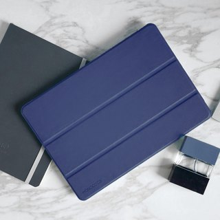 Lucid Folio | Ultra Slim Hard Flip Case for iPad 9.7(2018) w/ Auto On-Off-Navy