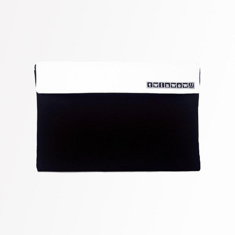 時尚筆記 - 細緻質感平板包 - 時尚黑白
