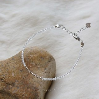 白水晶銀手鍊 ( Rock Quartz Bracelet Silver Linear Alloy )