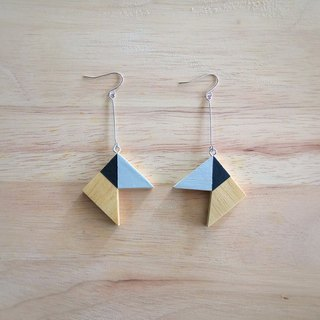 Square Wooden Earrings No.6