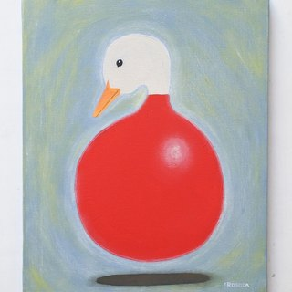 [IROSOCA] duck canvas painted with balloons painting F6 size original picture