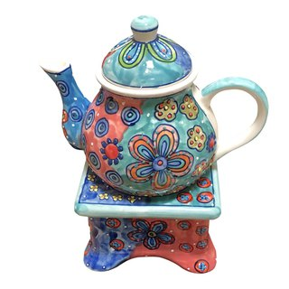 Five petal flower series - teapot (without base)