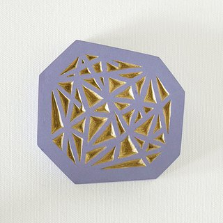 Geometric Hand Mirror Mini (intersect - blue lavender)