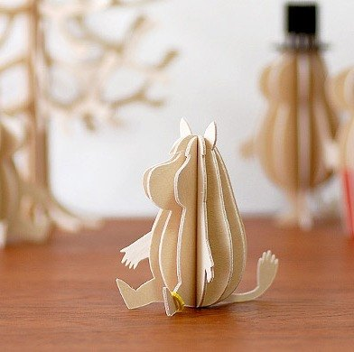 [Finnish]Lovi 3D Puzzle Birch Postcards | Decorations | Gifts - Kail (9cm)