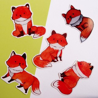 Small fox / waterproof sticker