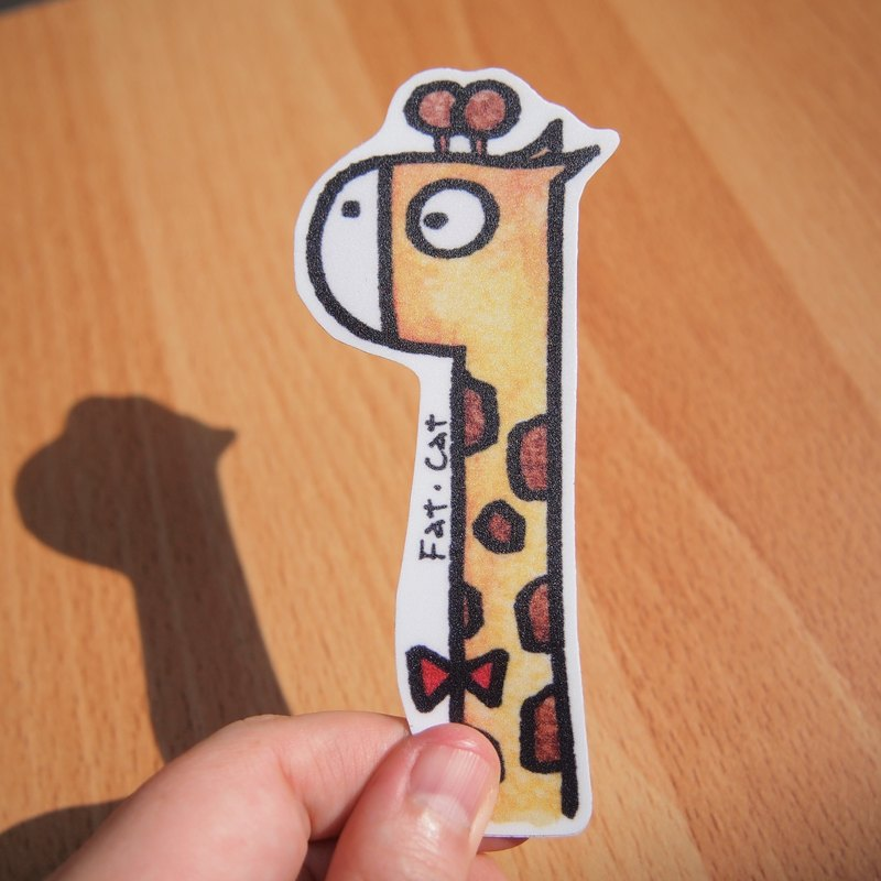 Waterproof stickers - giraffe