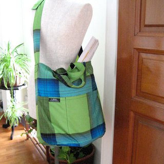 FREE SHIPPING!!  2 Way Bag Green Indonesian Fabric