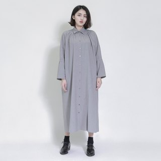 Erode erosion asymmetric shirt dress _7AF111_ gray