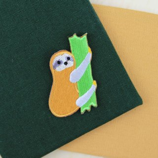 Work hard to climb the sloth - self-adhesive embroidered cloth stickers little sloth series