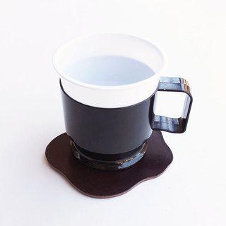 Leather coaster coffee