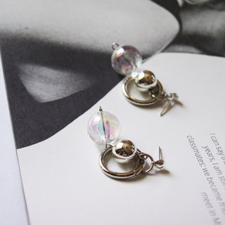 mint neiff I Milkyway planet circle metal earrings wear / clip