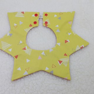 Small triangular star pocket / baby bibs / bibs