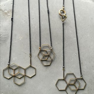 Single Metalworking // Space Series // Long Thin Necklaces