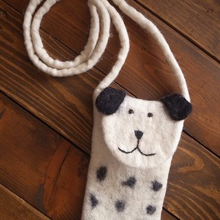 【Grooving the beats】iPhone 6 felt dog case, felt case, custom case, handmade iPhone sleeve, Iphone bag for Iphone 6(Animal_Dog)