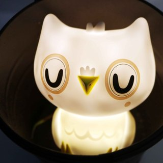 Dutch Petit Monkey owl decorative night light - ash