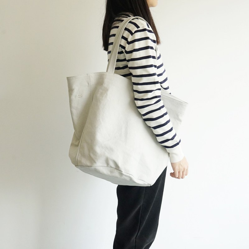 Mushroom MOGU / Canvas Shoulder Tote / Lime / Camping Plus