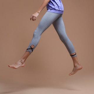 [MACACA] Vine Leaflets Yoga Pants - AQE7082 Light Gray