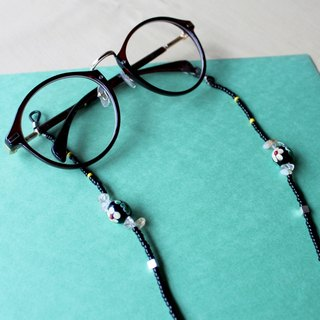 Classical green glass beads glasses chain