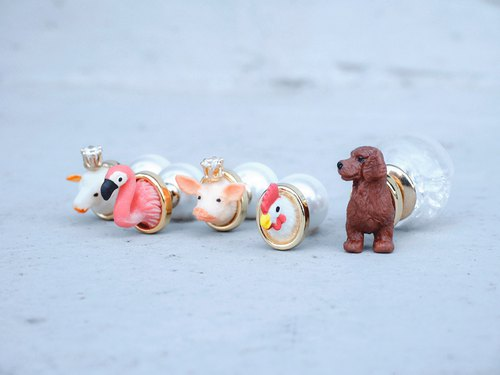 Mini Zoo-A series of cute animals<once upon a time*earrings>