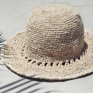 A limited edition hand-woven hemp hat / hat / visor / hat - Great Original color hollow weave