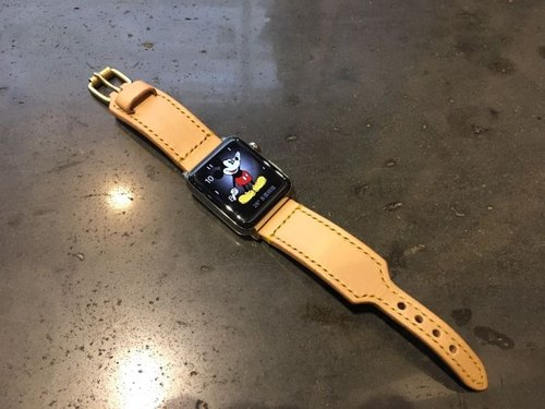 [ISSIS] Apple Watch handmade leather strap - (2)
