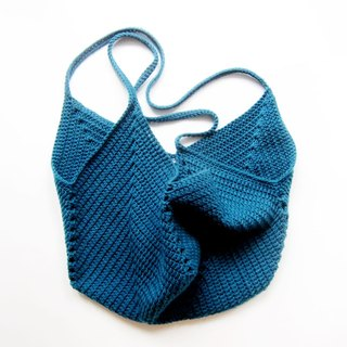 Tote bag shopping bag bag 100% cotton wool hand crochet