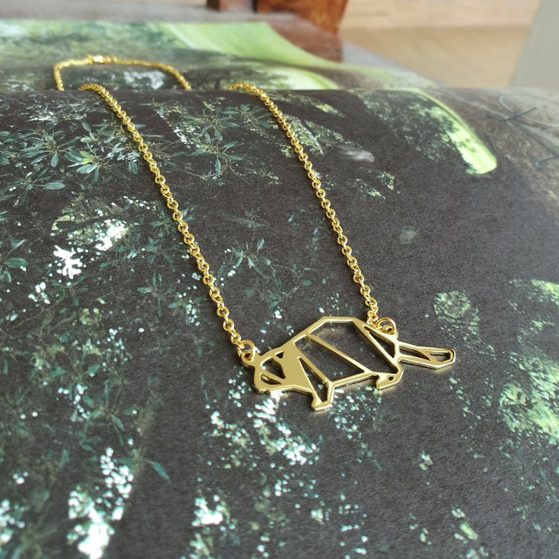 Beaver Necklace, Origami Necklace, Animal Necklace, Beaver Gifts