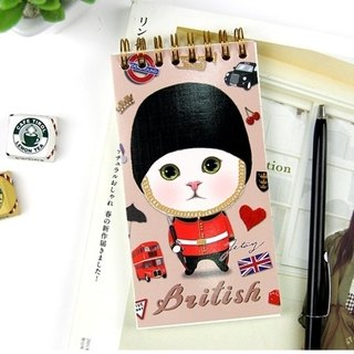 JETOY, Sweet Cat Pocket Notebook (check list)_British J1704307 (Gift Value 160 Ballpoint Pen)