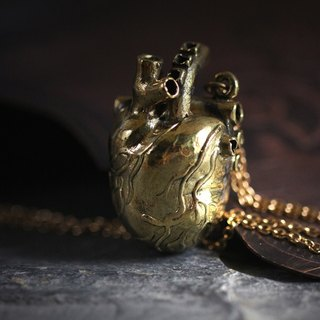 Anatomical Heart - medium size - Charm Necklace by Defy