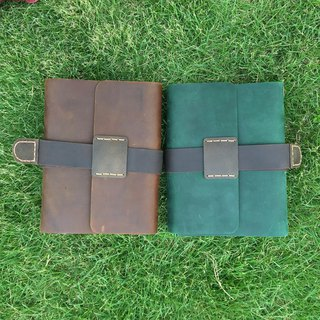 Handmade European retro leather handbook travel notepad diary