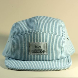 Stripe blue 5panel cap